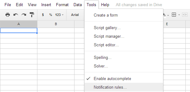 Google Sheets Notification