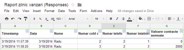 Google Form Responses