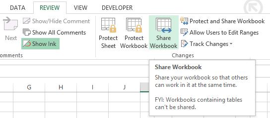 Share workbook