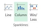 Sparklines in Excel