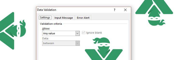 Validarea datelor in Excel