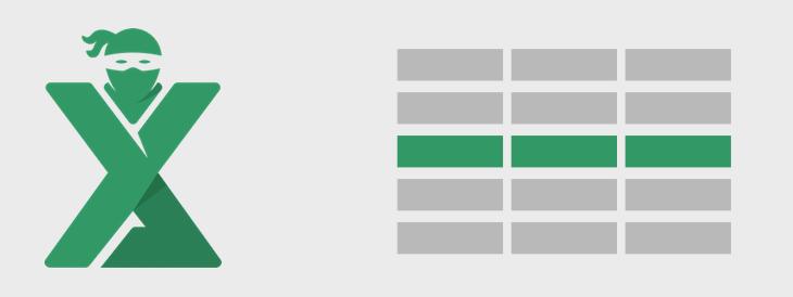 Formatare conditionala pe un rand intreg