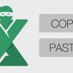 Paste special Excel