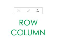 Formule row, column