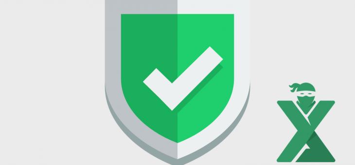 Protejarea datelor in Excel