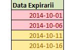 Atentionare in functie de data in Excel
