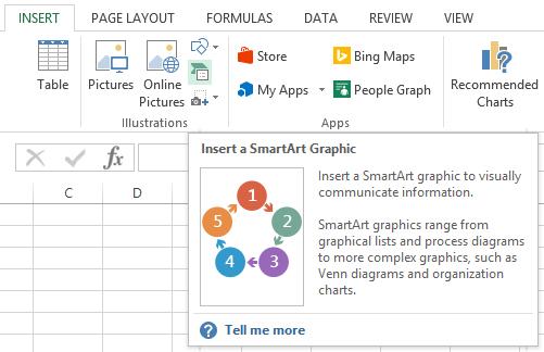 Organigrama in Excel 1