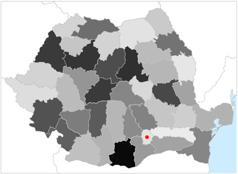 Grafic harta Romaniei 2