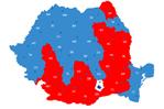Grafic in forma de harta a Romaniei
