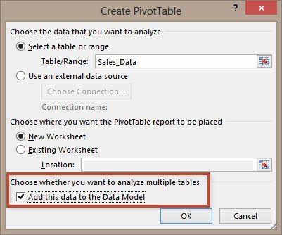 Excel Data Model