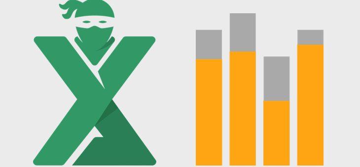 Suprapune coloanele intr-un grafic Excel