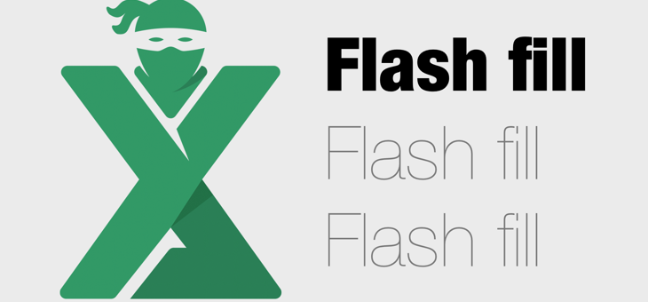 Flash FIll Excel