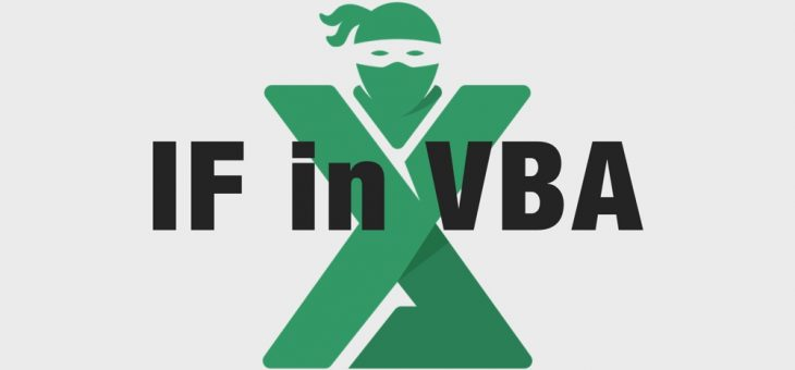 Functia IF in VBA (Visual Basic)