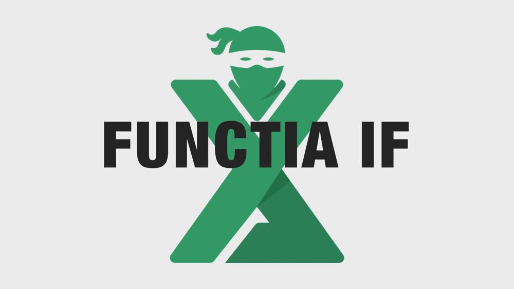 Functia IF Excel