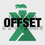 Functia OFFSET Excel